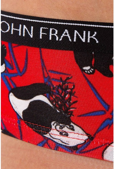 John Frank WJFD-H15 Kadın Panda Identıty Hıpster Desenli