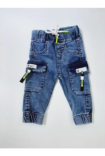 Adabebek Erkek Çocuk Denim Kumaş Kot Pantolon Beli Lastikli