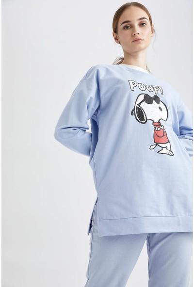 Snoopy Lisanslı Relax Fit Sweat Tunik