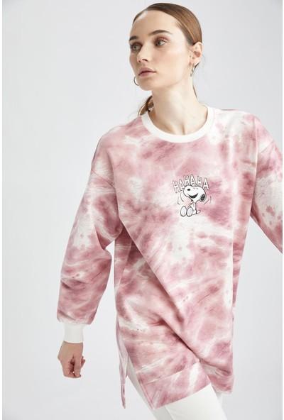 DeFacto Snoopy Lisanslı Batik Relax Fit Sweat Tunik