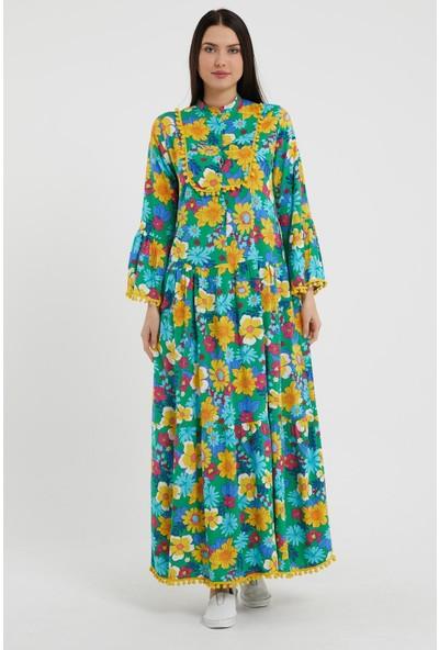 Valewoman Empirme Ponpon Uzun Elbise