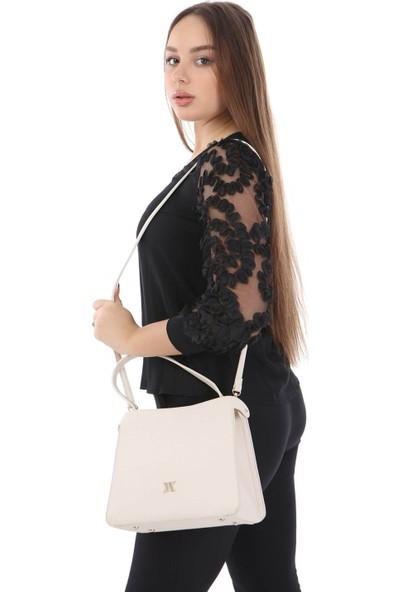 My Valice Smart Bag 1304 Kadın Çapraz Omuz Kol Çantası Rfıd Bej