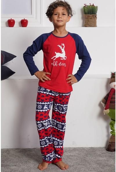 Vienetta Pamuklu Erkek Çocuk Uzun Kol Pijama Takım