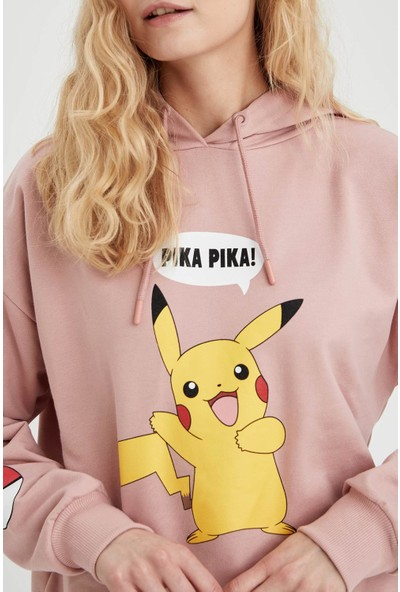 DeFacto Pokemon Lisanslıoversize Sweatshirt