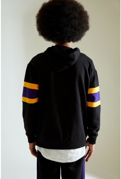 DeFacto Nba Lisanslı Oversize Fit Unisex Kapüşonlu Sweatshirt