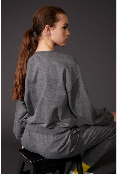 DeFacto Pokemon Lisanslı Crop Sweatshirt