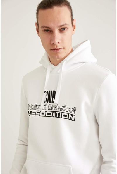 DeFacto Nba Lisanslı Regular Fit Unisex Kapüşonlu Sweatshirt