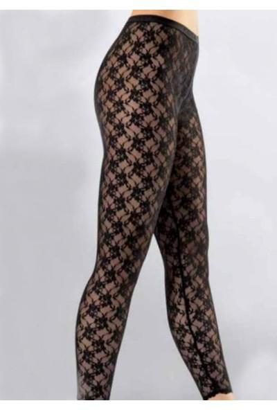 Kota Iç Giyim Kadın Siyah Dantelli Uzun Tayt
