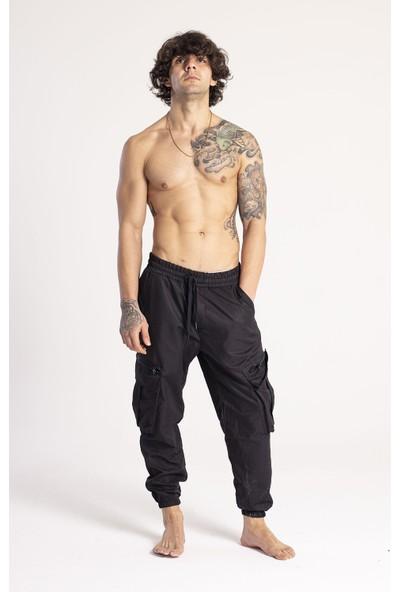 Xhan Siyah Kargo Cep Jogger Pantolon 1KXE5-44673-02