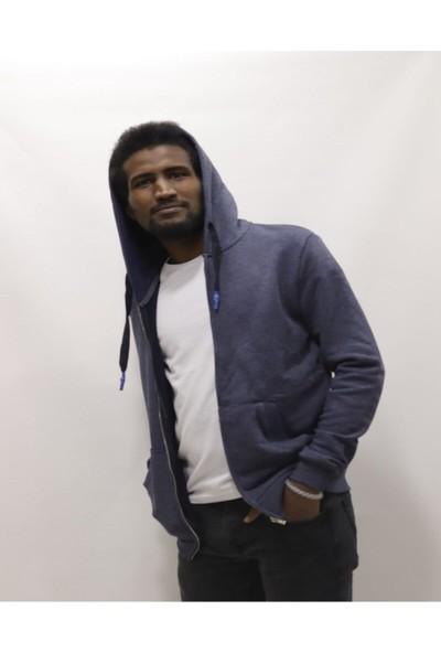 Fbi Kapüşonlu Fermuarlı Cepli Erkek Sweatshirt/hırka