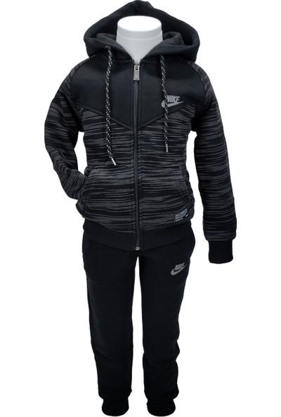 Nike Erkek Çocuk Siyah Ikili Kapşonlu, Cepli Kışlık Takım