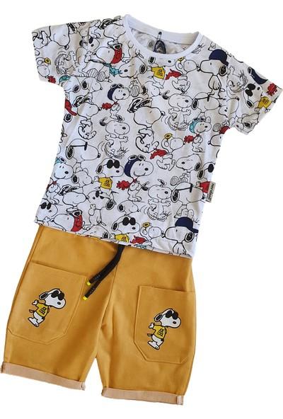 Baby Hil Snoopy Erkek Çocuk Yazlık 2li Takım
