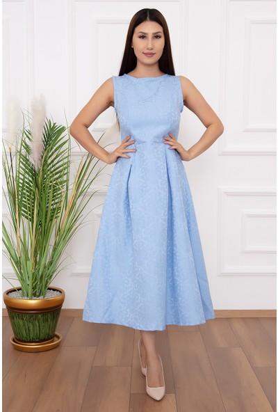 Kalopya Kadın Sıfır Kol Kısa 13319 Elbise