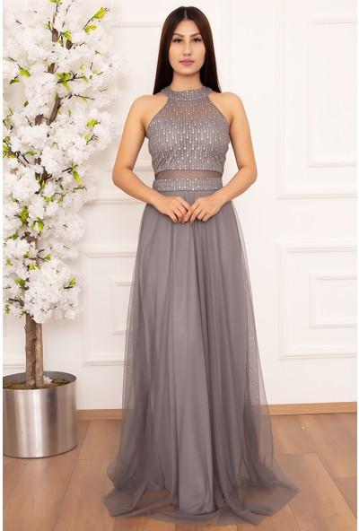 Kalopya Niomiy Uzun Elbise 13046-1