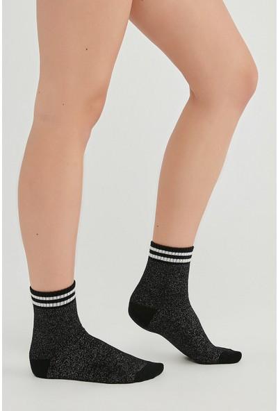 Penti Siyah Sımlı Soket Çorap