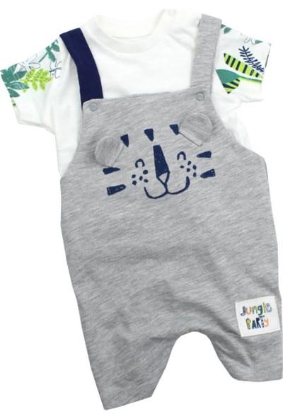 Tongs Kaplanlı Erkek Bebek Salopet Takım
