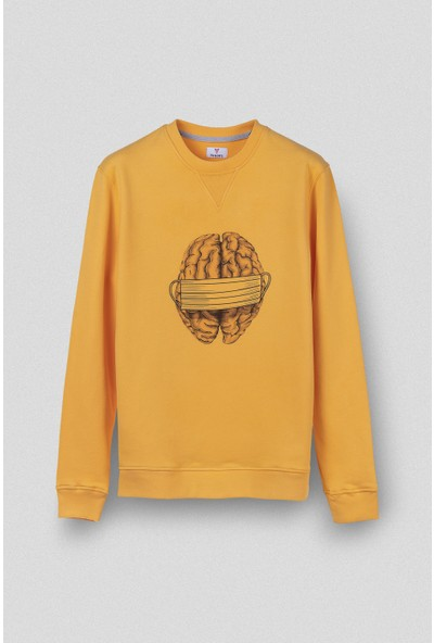 Vogors Mask Sweatshirt Önü Baskılı Normal Kesim