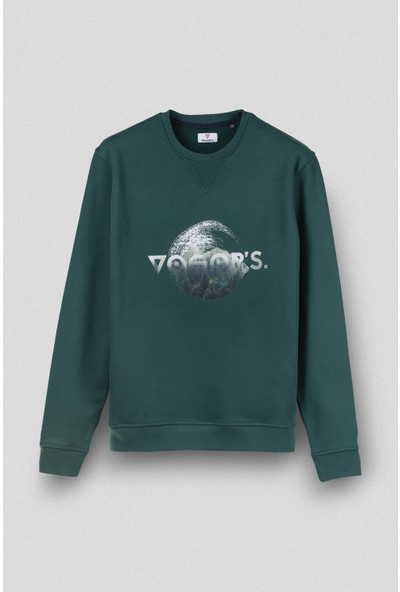 Vogors Nature Of Vogors or's Sweatshirt Önü Baskılı Normal Kesim