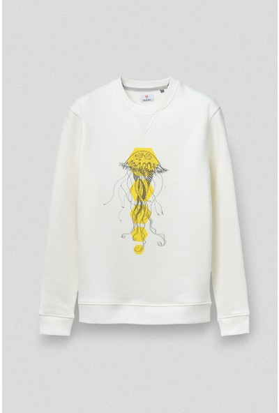 Vogors Jellyfish Sweatshirt Önü Baskılı Normal Kesim