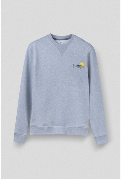 Vogors Fish In The Dish Sweatshirt Önü Baskılı Normal Kesim