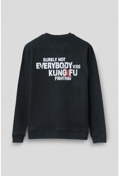Vogors Kung Fu Fighting Sweatshirt Önü Baskılı Normal Kesim
