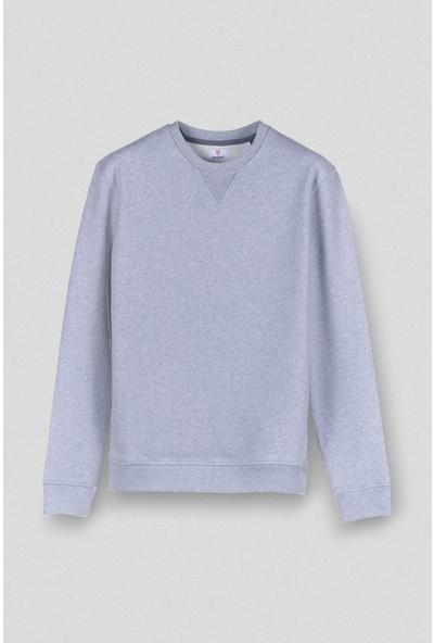 Vogors Gri Basic Sweatshirt Normal Kesim