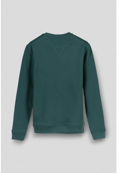 Vogors Yeşil Basic Sweatshirt Normal Kesim