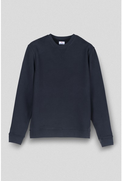 Vogors Siyah Basic Sweatshirt Normal Kesim