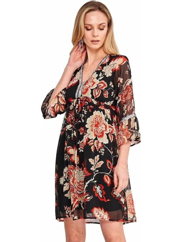 Şamdan Kadın 3303 Siyah Elbise