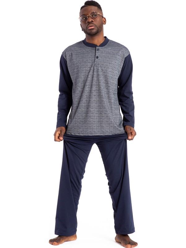 Tampap Erkek Pijama Takımı Uzun Kol Orta Kalın 1001