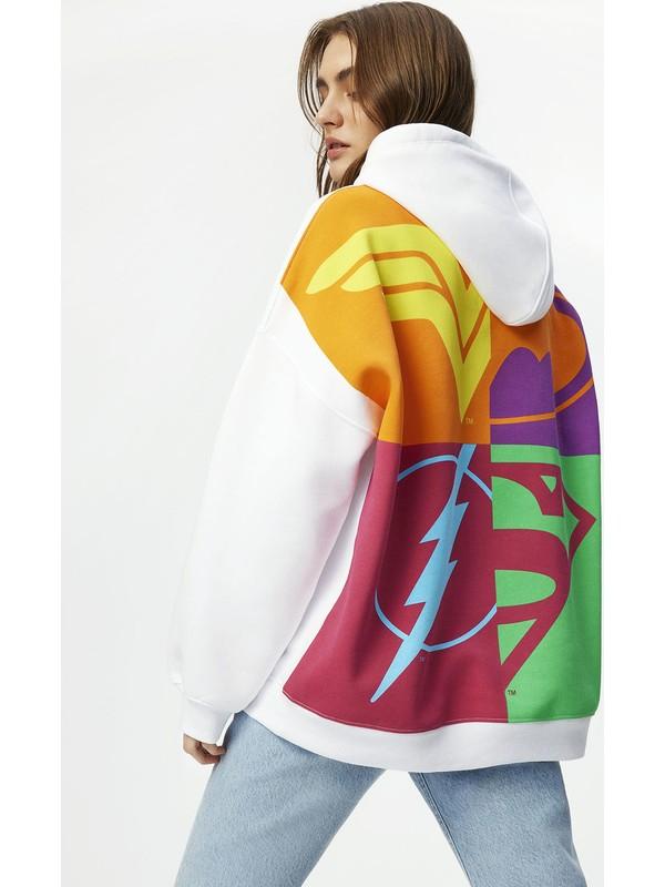 Mavi Kadın Kapüşonlu Beyaz Sweatshirt 1600852-620
