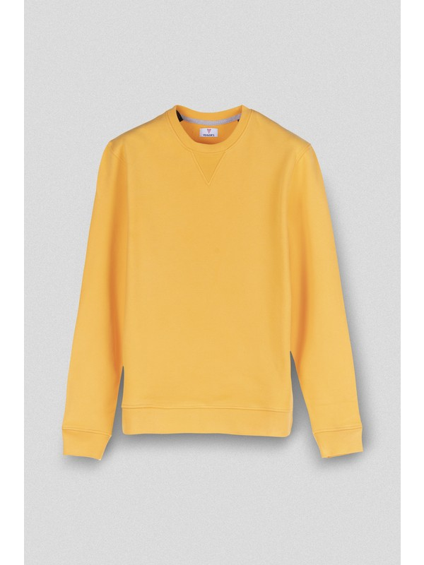 Vogors Turuncu Basic Sweatshirt Normal Kesim
