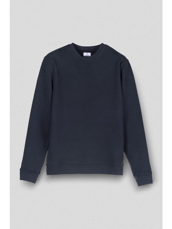 Vogors Siyah Basic Sweatshirt Normal Kesim