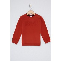 U.S. Polo Assn. Turuncu Sweatshirt Basic 50225726-VR191 11 - 12 Yaş