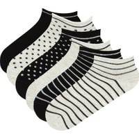Penti Gri Siyah Multi Darky 6li Patik Çorap