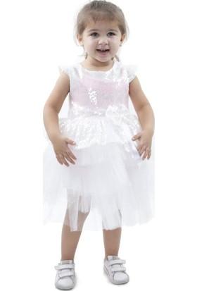 Babyland Beyaz Kız Çocuk Elbise
