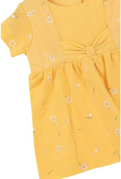 Bibaby Hello Dreams Kız Bebek %100 Pamuk Saç Bantlı Elbise Sarı