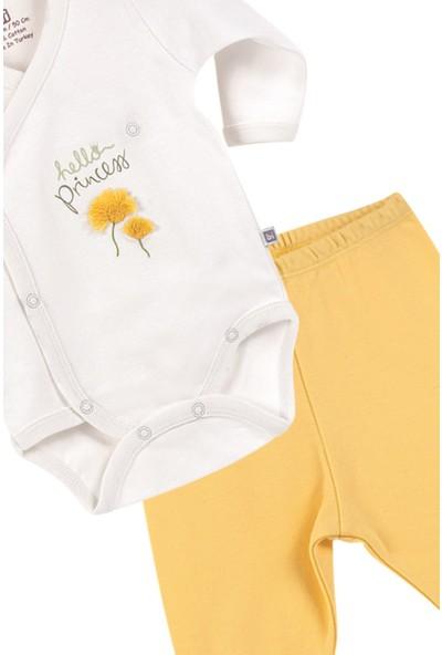 Bibaby Hello Dreams Kız Bebek Kravuze Pamuk Badi Pantolon Set