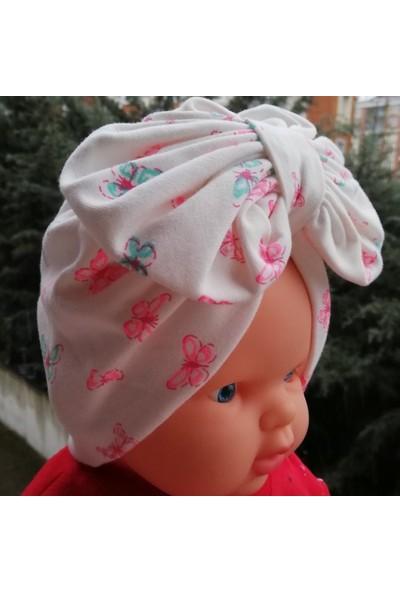 KAYRA Kelebek Desenli Fiyonklu Bone Şapka