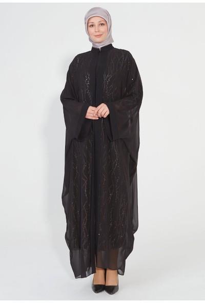 SETRMS Pul Payet Işıltılı Abaya