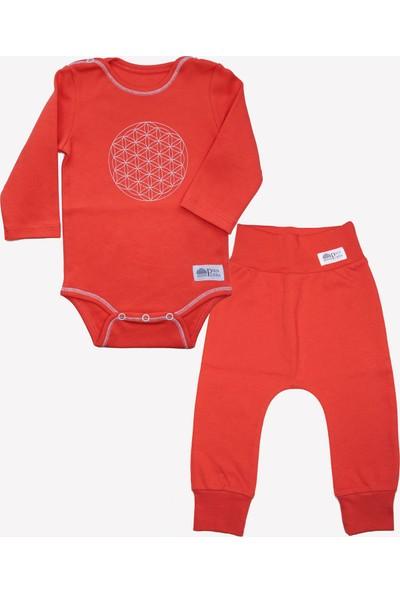Ozmoz Özel Koleksiyon Annapurna Hediyelik Organik Bebek Takım - Kırmızı