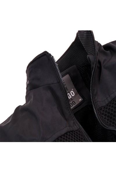 Zago Siyah Renk Göğüs Kısmı File Detaylı Baharlık Erkek Mont
