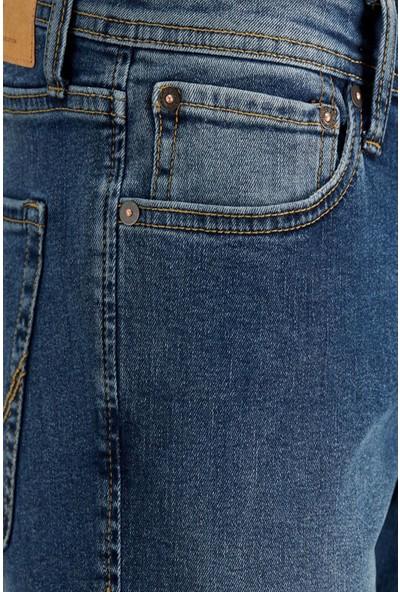 Jack & Jones 12182963 Jack&jones Jeans Intellıgence Erkek Jean Pantolon Blue Denim