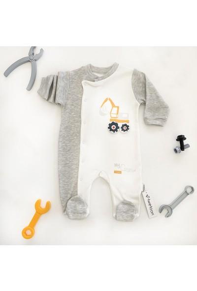 Twetoon Erkek Bebek Kepçe Detaylı Tulum