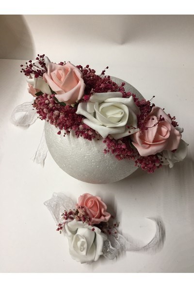 Kavuun Dış Çekim Çiçek Pembe Beyaz Taç