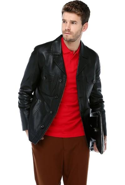Dericlub E-1024 Battal Deri Erkek Ceket