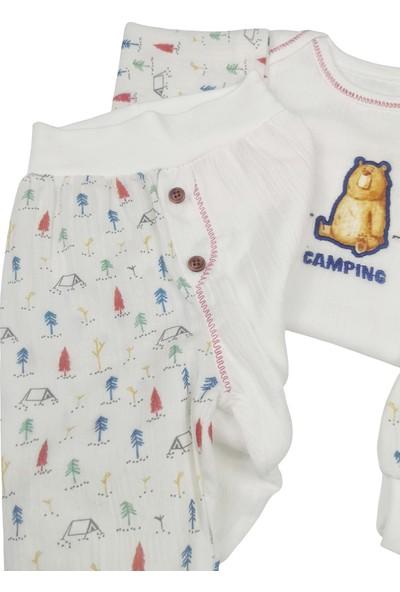 Pattic Baby Camping Nakışlı 3lü Bebek Takım