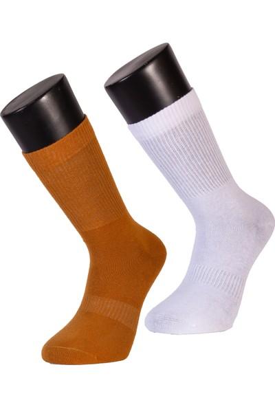 Davetta 6'lı Dikişsiz Pamuk Penye Renkli Patik Çorap