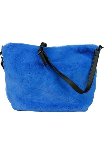 DSN Kadın Çıt Çıtlı Kadın El Çantası Y4710 Mavi