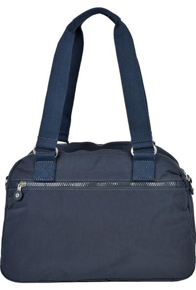 Smart Bags Krinkıl Kumaş Füme Bayan Omuz Çantası 1122